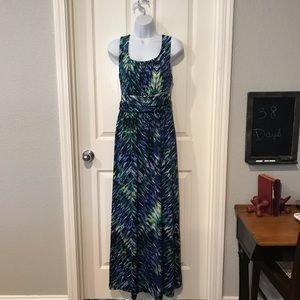 NWT AB studio maxi dress sz large
